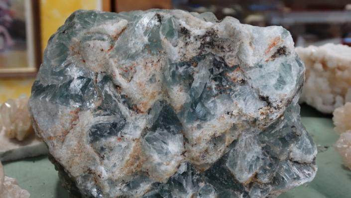 [Image: Fantastic and beautiful aquamarine fluorite in extra large sizes!! Priced to sell so shop quickly to get yours while it lasts.]